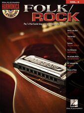Folk Rock Harmonica Play-Along Book and Cd New 000000482