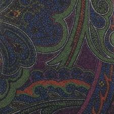 JOS. A. BANK RESERVE Wine Green Burnt Orange PAISLEY Self-tipped Wool Tie NWT