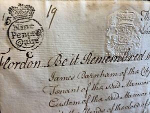 1749 ANTIQUE ENGLISH MANUSCRIPT