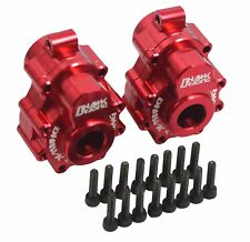 CNC Machined Alloy Rear Portal Drive Housing Set Red For Traxxas TRX-4 Crawler