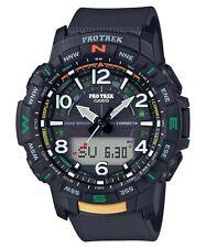 Casio Pro Trek * PRTB50-1 Quad Sensor Bluetooth Smartlink Black Resin Watch Men