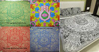Hamsa Hand Wall Hanging Indian Hippie Mandala Tapestry Throw Bedspread Decor
