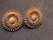 vintage trifari gold earrings