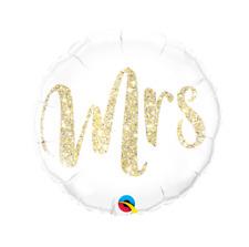 Party Supplies Engagement Wedding  Mrs Gold Glitter Foil Balloon 45cm