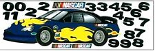 1Roll Wallpaper York Sk6465M Car Nascar Blue Mini Mural Boys Prepasted Dx37/10