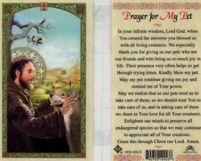 Prayer Card for My Pet St Francis Bless Them and All Living Creatures Laminated