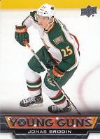 13/14 UPPER DECK YOUNG GUNS ROOKIE RC #234 JONAS BRODIN WILD *27832