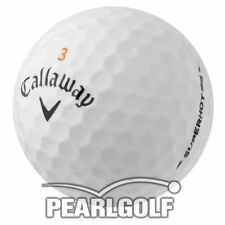 100 CALLAWAY SUPERHOT 55 GOLF BALLS - PEARL / AAA - LAKE BALLS