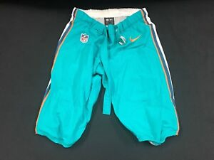 MIAMI DOLPHINS TEAM ISSUED/GAME USED TEAL NIKE PANTS 2014-2017 SEASON ALL SIZES!