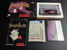 Final Fantasy III 3 Authentic Super Nintendo EXMT- condition COMPLETE n box!