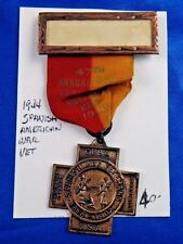 1944 Spanish American War Vets 47th Annual Encampment Worcester MA Medal Ribbon