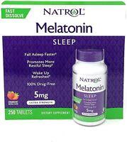 Natrol Melatonin 5 mg Sleep Aid 250 Fast Dissolve Tablet (Strawberry Flavor) NEW