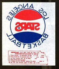 1970s ABA Los Angeles Stars Basketball Decal Transfer Sticker 54341