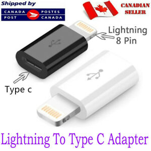 Lightning to Type C Adapter for iPhone 12 11 XS Max XR X 7 8 Charging Data Sync