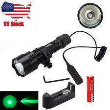 6000LM 250 Yard Green LED Tactical Flashlight Torch Weaver Picatinny Mount Gun