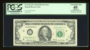 DBR 1969 $100 Minneapolis STAR Fr. 2164-I* PCGS App XF-40 Low Serial I00038613*