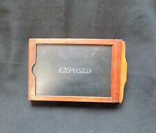 Vintage Wood Film Plate Holder Old Photography Early 1900's Exposed