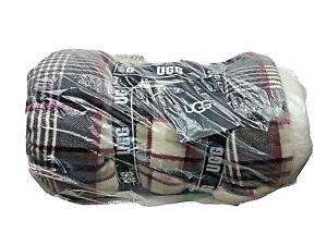 "UGG Avery Sherpa & Plush Reversible Throw Blanket in Winter Plaid 50"" x 70"""