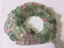 125CT  Natural Crystalized Mutli Color Tourmaline Beads Afghanistan T106