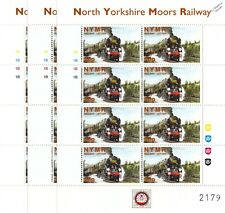 3 x 1999 SR Bulleid Pacific HARTLAND NYMR Railway Letter Train Stamp Sheets
