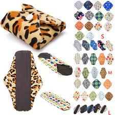 S/M/L/XL Reusable Bamboo Cloth Washable Menstrual Pad Mama Sanitary Pad Liner G1