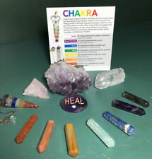 12 Pcs Healing Crystal Set, Chakra Pendulum,Terminated Pencil Set,Meditation Kit