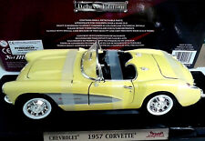 YAT MING ROAD SIGNATURE 1:18 AUTO CHEVROLET CORVETTE 1957 GIALLO ART 92018