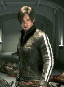 Leon Kennedy Resident Evil Vendetta Black Leather Jacket