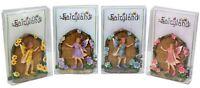 Mini Sparkle Fairy Doors Magical Figurine Garden Statue Ornament Gift 4 Colours