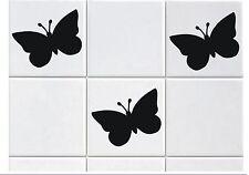 12 BUTTERFLY TILE TRANSFER STICKERS BATHROOM KITCHEN SELF ADHESIVE VINYL DIY