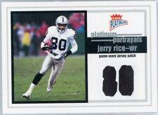 2003 Fleer Platinum Jerry Rice Platinum Portrayals Patch ~ #'d 89/100