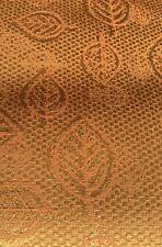 Upholstery Crypton Fabric Pumpkin Light Orange Tangerine Leaf Leaves 2.75 Yards