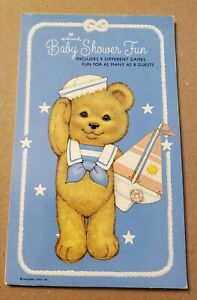 Vintage Hallmark Games For Baby Showers Booklet Fun party for up to 8 guests