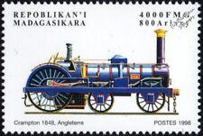 Eastern Counties Railway (ECR) CRAMPTON 4-2-0 No.109 Locomotive Train Stamp