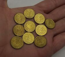 PERU 5 CENT OF SOL DE ORO YEAR 1965 COIN LIMA ANNIVERSARY LOT OF 10 COINS UNC
