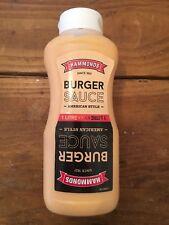 x12 Hammonds Burger Sauce 1 Litre / 1 Kg New Relish Dressing Home Kitchen Kebab