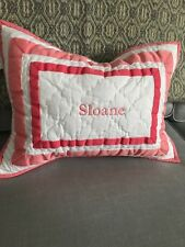 "Pottery Barn Kids Small Embroidered Sham ""Sloane"""