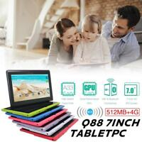 7 inch Android tablet Tablet 4GB Quad Core 4.4 Dual Camera Wifi Bluetooth PAD
