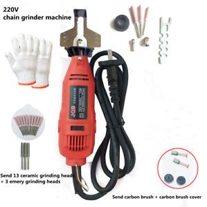 220V Mini Electric Grinder Electric Chain Saw Grinding Machine Sharpener