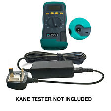 mains adaptor/battery charger KMCU250/UK for Kane combustion flue gas analysers