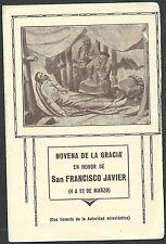 Novena San Francisco Javier andachtsbild santino holy card santini