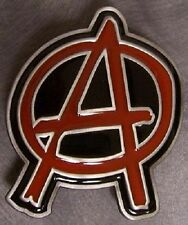 Pewter Belt Buckle music Anarchist NEW