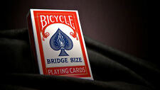RED BRIDGE SIZE Bicycle Deck of Playing Cards 86 RIDER Sealed small USPCC air