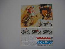 advertising Pubblicità 1974 ITALJET SCIMITAR/KANGAROO/COYOTE/YAMAHA DT 360