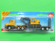Siku Super Serie 1611 Tieflader mit Bagger chromgelb basaltgrau