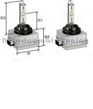 KIT COPPIA LAMPADE LAMPADINE D1S D1C 35W 4300K HID SENZA CABLAGGIO