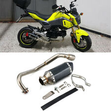 Motorcycle Full Exhaust System Side Pipe End For HONDA Grom 125 MSX125 2013-2020