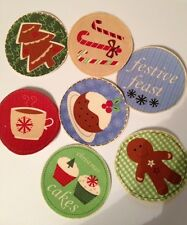 Holiday Treat Balls -  Iron On Fabric Appliques - Christmas