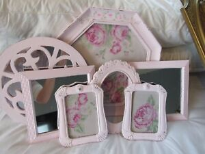 7 Shabby Vintage Chic Pink Frames With Rose Cottage