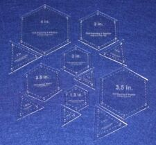Quilt Templates- 12 Piece Set Hexagon & Equilateral Triangles Acrylic 1/8""